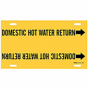 Pipe Marker,Domestic Hot Water Return,Y
