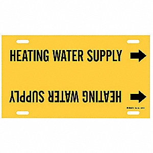 Pipe Mrkr,Heating Water Supply,8 to9-7/8