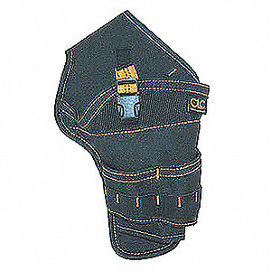 "Cordless Drill Holster, Black Polyester, 6-1/4"" Width"