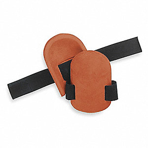 Non-marring 1-Strap Knee Pads, Rust
