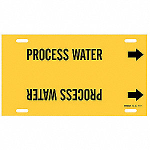 Pipe Marker,Process Water,Y,6 to7-7/8 In