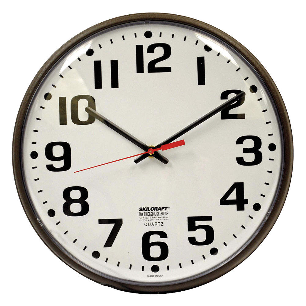 Ability one wall clockanalogelectric 5lg306645 00 530 3342 zoom outreset put photo at full zoom then double click amipublicfo Images
