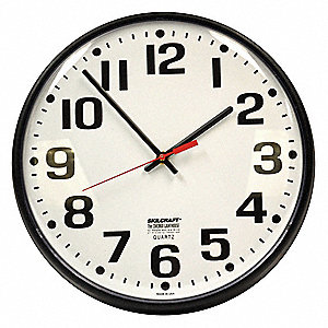 Wall Clock,Analog,Battery