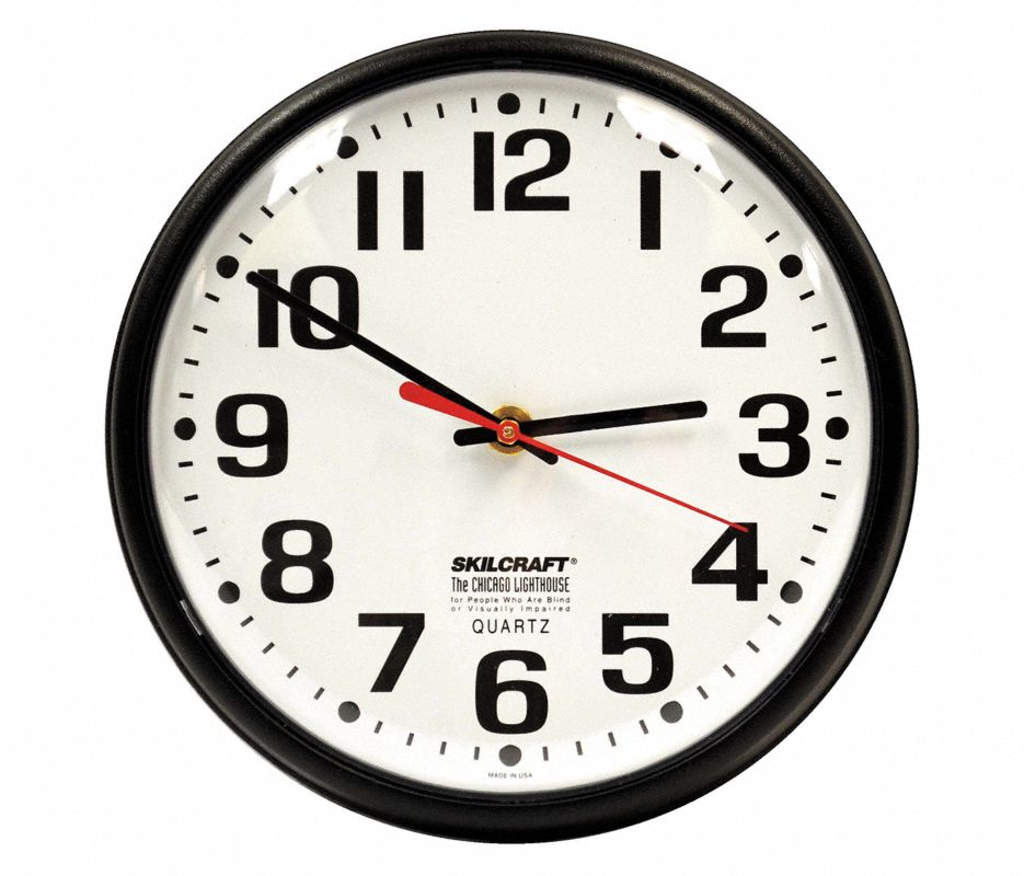 Wall Clock,Battery,8 in.