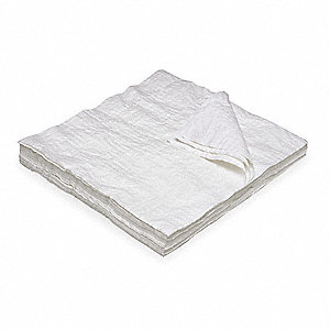 White Tissue/Scrim Disposable Wipes, Number of Sheets 100, Package Quantity 10
