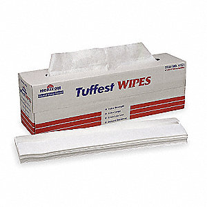 White Spunlace Disposable Wipes, Number of Sheets 100, Package Quantity 8