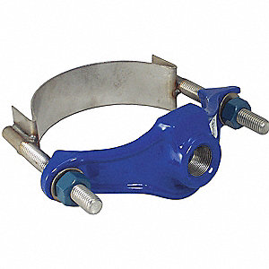 "Service Saddle Repair Clamp, 6"" Pipe Size, Fits Outside Dia. 5.94"" to 6.90"""