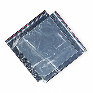 "4""L x 4""W Standard Reclosable Poly Bag with Zip Seal Closure, Clear; 2 mil Thickness"