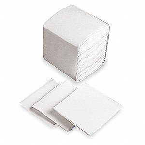 "13-1/4 x 11-1/4"" 1-Ply Plain Dispenser Napkin, White&#x3b; PK6000"