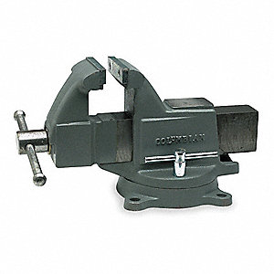 "4"" Ductile Iron Machinist's Vise, 3-5/8"" Throat Depth"