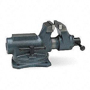 "2-1/2"" Ductile Iron Workshop Vise, 1-3/4"" Throat Depth"