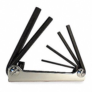 Folding Hex Key Set,6 Pieces