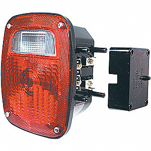 Combination Tail Lamp,Rectangle,Red,PK2