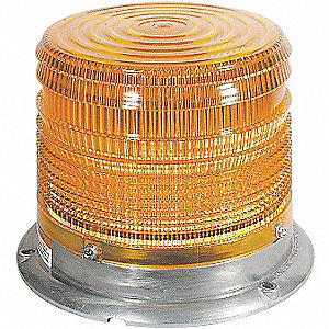 Low Profile Strobe,Amber,Perm,Flash Tube