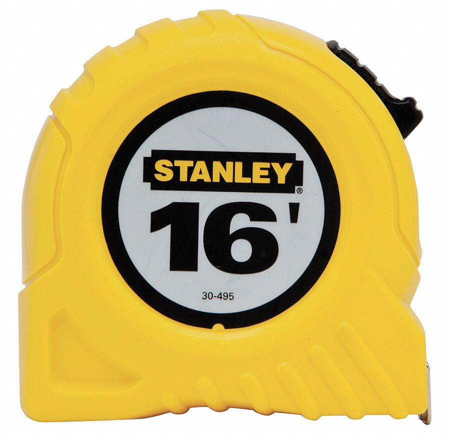 16 ft Steel SAE Tape Measure, Yellow