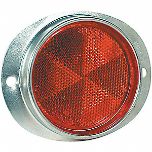 Oval Reflector, Red,3 3/4x4 1/2,PK12