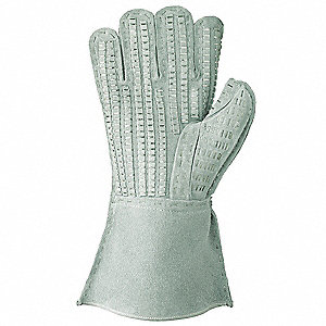 Barb Wire Handling Glove,L,Gray,PR
