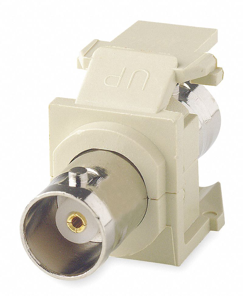 Keystone Jack, Ivory, Plastic, Series: QuickPort, Cable Type: BNC