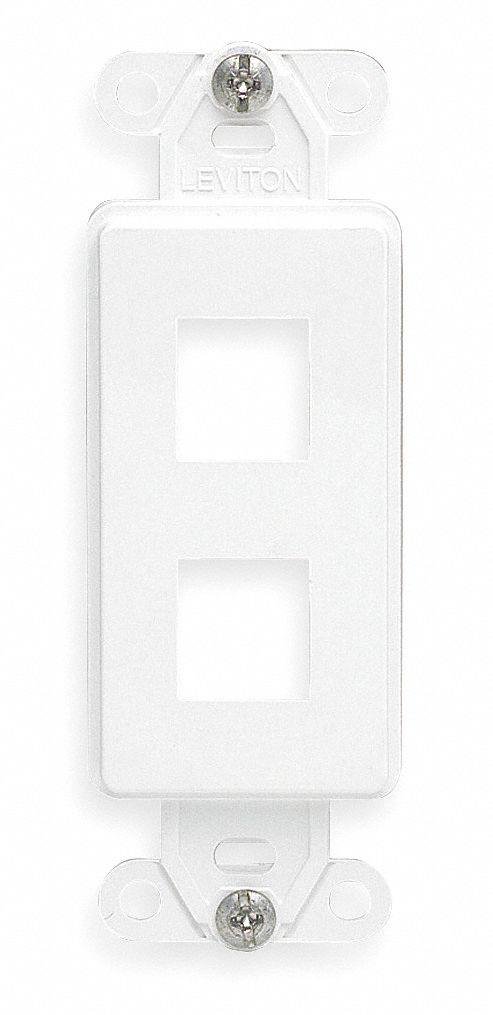 Ivory Decora Housing, Module Type: Duplex, Number of Ports: 2
