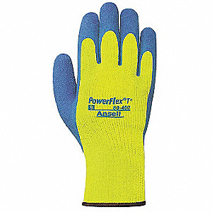 Cut Resistant Gloves,2XL,Blue/Yellow,PR