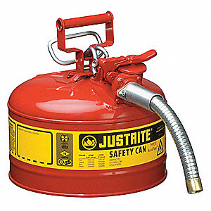 Type II Safety Can,Red,2-1/2 gal.