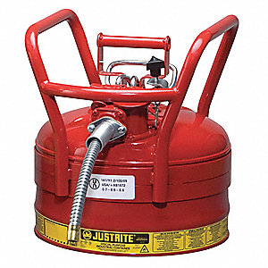 Type II DOT Safety Can,Red,16-1/2 In. H