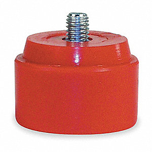 Hammer Tip,3 In Dia,Medium,Red,PK2