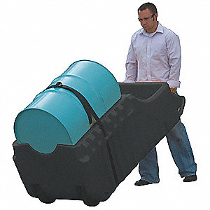 Outdoor Dispensing Dolly,Black,66 Gal