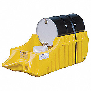 Indoor Dispensing Dolly,Yellow,66 Gal