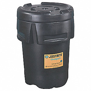 Salvage Drum,Open Head,95 gal.,Black