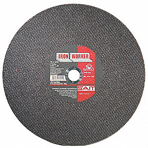 "14"" Cut-Off Wheel, 3/32"" Thickness, 1"" Arbor Hole"