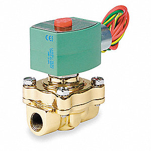 SOLENOID VALVE,1/2 IN,BRASS,110/120