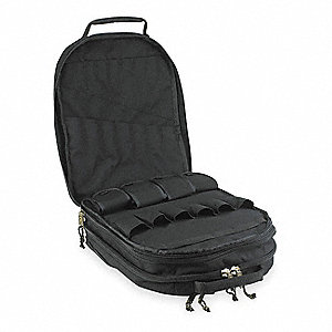 Synthetic Tool Backpack, General Purpose, Number of Pockets: 75, Black