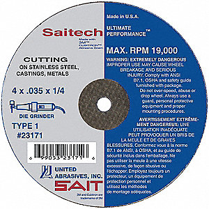 "CutOff Wheel,Saitech,3""x1/16""x3/8"""