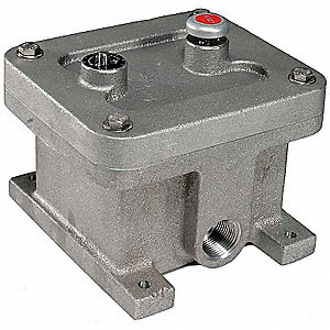 Vibration Switch, Remote Electrical or Manual Reset Type, 120VAC, DPDT, 5 Max. Amps