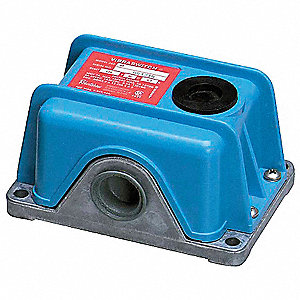 Vibration Switch, Remote Electrical or Manual Reset Type, 120VAC, SPDT, 0.5-7 Max. Amps