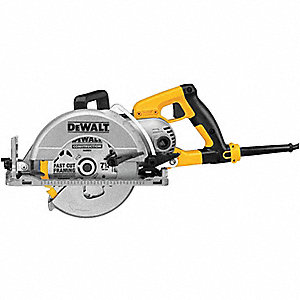 "7-1/4"" Worm Drive Circular Saw, 4800 No Load RPM, 15.0 Amps, Blade Side: Left"