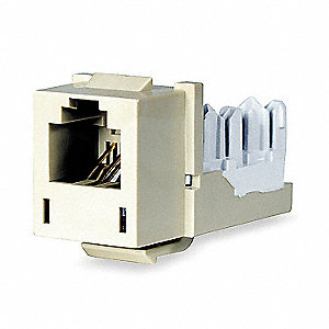 Modular Jack, Telco Ivory, Plastic, Series: Standard, Cable Type: Category 5e