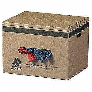 Assorted Recycled Cotton Cloth Rag, 50 lb. Box, 1EA