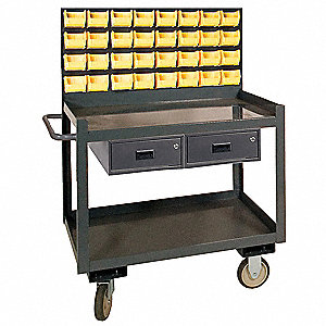 Louvered Cart,54-1/2 In. H,36 In. L