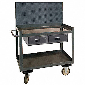 Mobile Workctr w/Pegbrd,1200 lb.,36 In.W