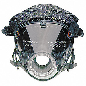 Full Face Respirator, 4 Point w/ Polyester Mesh Suspension, M/L
