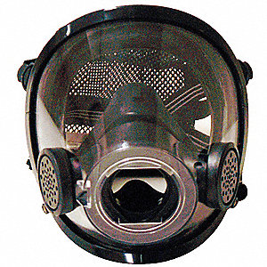 Full Face Respirator, 4 Point w/ Polyester Mesh Suspension, L