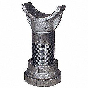 "10-1/2""-15-1/4"" Vertical Adjust. Range Cast Iron Pipe Saddle with 3800 lb. Max. Load"