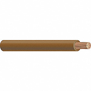 "500 ft. MTW Hookup Wire, Nominal Outside Dia.: 0.154"", Wire Color: Brown"
