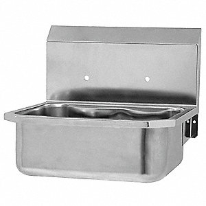 Stainless steel Hand Sink, Without Faucet, Wall Mounting Type, Silver