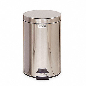 STEP CAN RND 3.5GAL STAINLESS