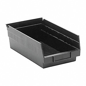 "ESD Conductive Bin, 11-5/8"" Outside Length, 6-5/8"" Outside Width, 4"" Outside Height"
