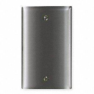 Blank Box Mount Wall Plate, Chrome, Number of Gangs: 1, Weather Resistant: No