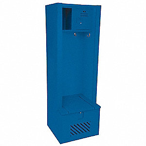 Open Front Gear Locker,W 30,D 21,Blue